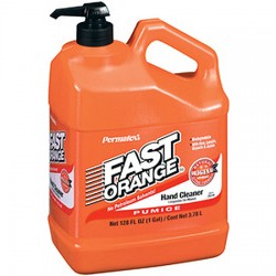 Fast orange hand soap